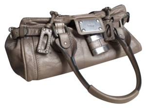 Chloé Satchel in Metallic Pewter