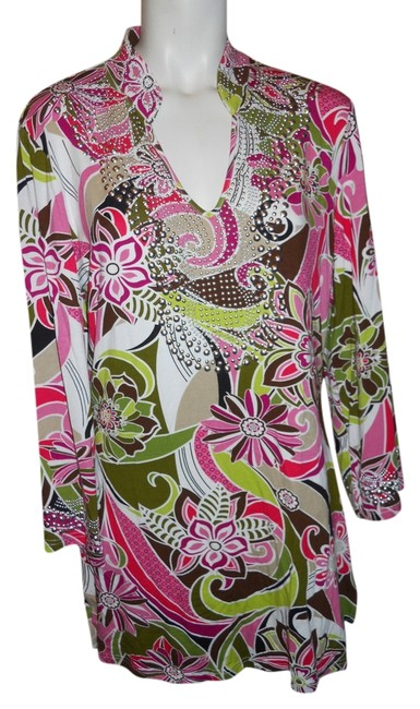 Item - Multi Color Print Reserved For Cm Knit Tunic Size 12 (L)