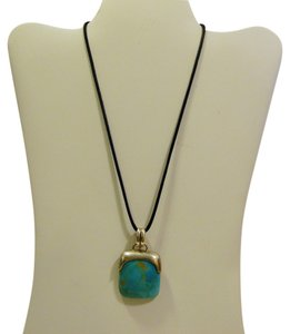 Silver Style Silver Style .925 Sterling Silver Turquoise Pendant with 18 Inch Cord