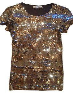 Alice + Olivia Top Gold/Silver