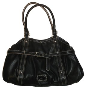 Nine West Leather Silver Hardware Shoulder Bag