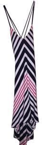 black, red and white Maxi Dress by bebe Black Striped