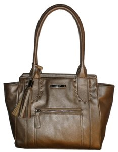 Nine West Leather Silver Hardware Tassels Shoulder Bag
