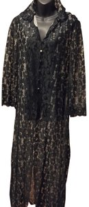 Black Maxi Dress by Hollywood by Munsingwear European Vintage Floral Lace
