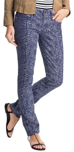 Item - Purple - White Printed Low Rise Super Skinny Jeans Size 25 (2, XS)