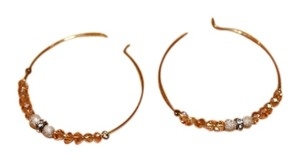 American Eagle Outfitters Shimmery Beaded Hoop Earrings