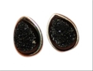 Francesca's Faux Druzy Teardrop Post Earrings