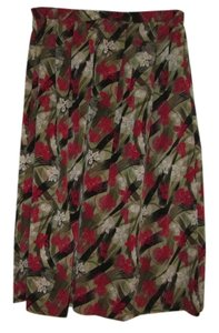Sag Harbor Skirt Kaki green white red designs