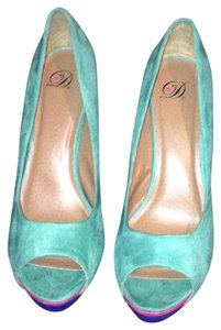D STILETTO PLATFORMS BLUE AND HOTT PINK Pumps