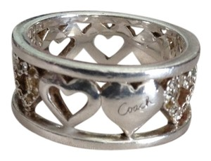 Coach Rare Sterling Heart Band