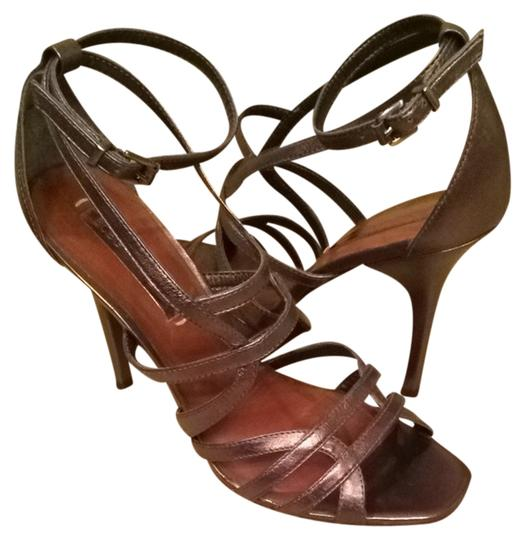 BCBGMAXAZRIA Pewter Sandals