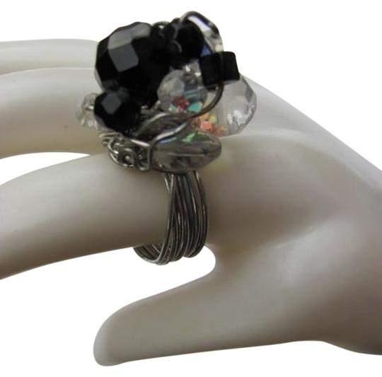 Preload https://item1.tradesy.com/images/black-silver-clear-size-750-sparkling-beads-ring-772195-0-0.jpg?width=440&height=440