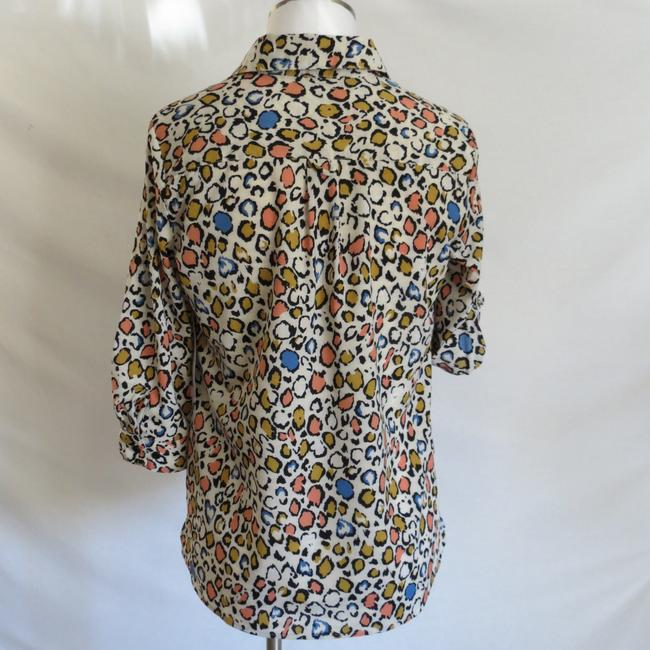 Notations Button Down Shirt Multicolor