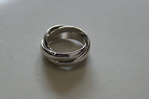 Cartier Cartier 18k White Gold Trinity Rolling Ring