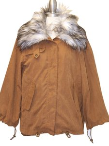 Other Fur Parka Faux Fur Winter Winter Coat Parka Brown Jacket