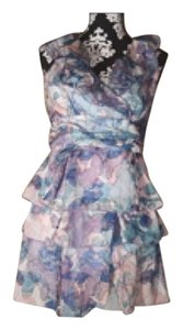 Jessica Simpson Floral Ruffle Empire Waist Dress