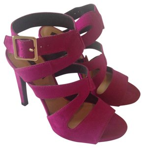Zara Style Pump Strappy Suede purple Sandals
