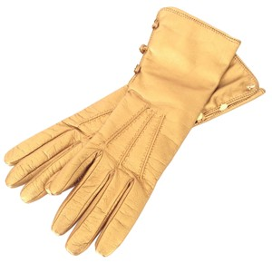Lambertson Truex Lambertson Truex Gold Leather Gloves - New