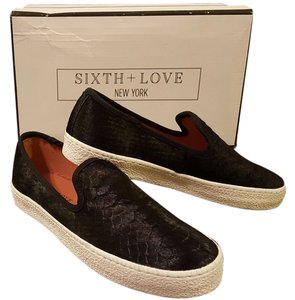 Sixth + Love Black Flats