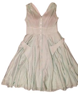 Calvin Klein short dress Green and white on Tradesy
