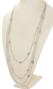 Tory Burch NEW Tory Burch Multi-strand Logo Necklace in Silver Plated