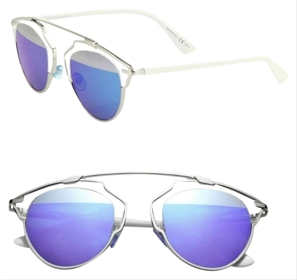 f3aeebd65cee Dior  So Real  48mm Mirrored Sunglasses Palladium White Silver Blue Mirror  Image 0 ...