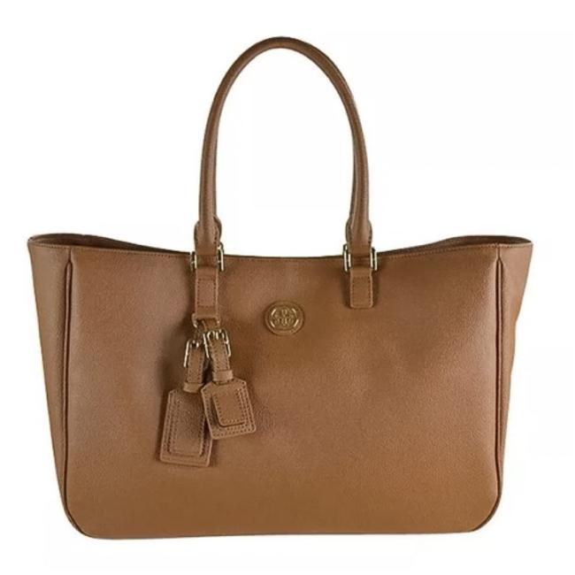 Item - Roslyn Brown Coated Canvas Tote