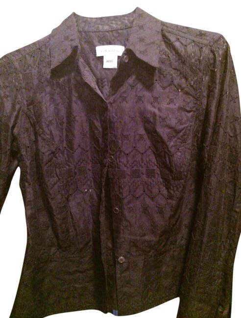 Calvin Klein Button Down Shirt Black