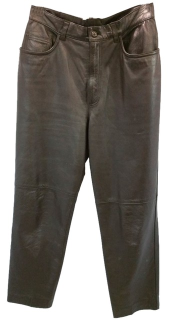 Item - Brown By Dark Leather Pants Size 6 (S, 28)