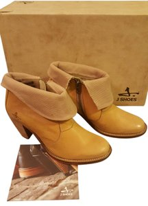 J SHOES Ankle Leather Western Festival Cork/Cream Boots