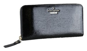 Kate Spade * Kate Spade Cedar Street Black Patent Leather Lacey Wallet