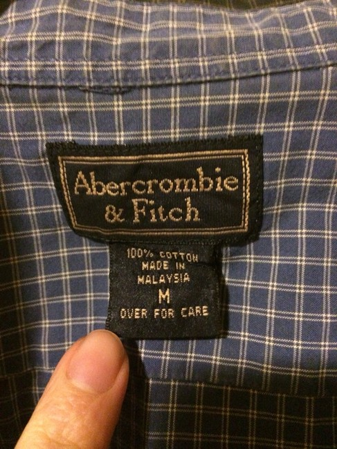 Abercrombie & Fitch Button Down Shirt Blue