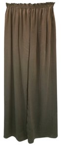 Zoran Silk Straight Pants BROWN