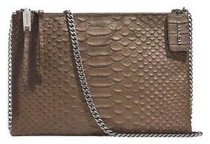 Coach Smythe Leather Satchel in Python embossed