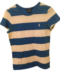 Ralph Lauren T Shirt Blue & White