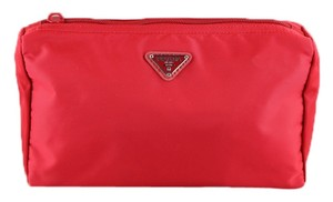 Prada Prada Nylon Red Cosmetic Bag