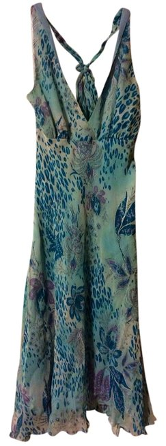 Item - Turquoise Knee Length Cocktail Dress Size 6 (S)