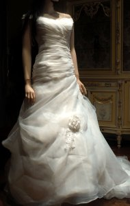 New Off White Wedding Dress Modify A-line Gown Wedding Dress