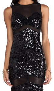 Jay Godfrey short dress Black Sequin on Tradesy