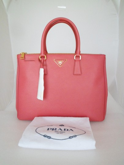 f9d4c75b0eca Prada Double Lux Executive Zip Tamaris Pink Saffiano Lux Leather ...