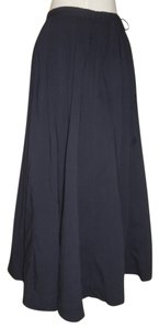Gap Cotton Maxi Skirt dark navy