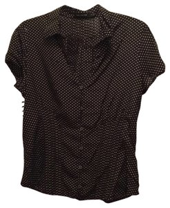 The Limited Top Black with polla dots