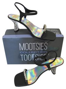 Mootsies Tootsies New Excellent Condition Black, Clear Sandals