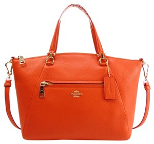 Coach 34340 Satchel in Coral