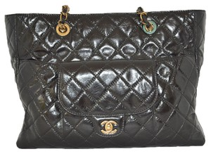 Chanel X3 Leather Tote in black