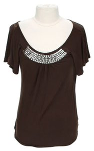 Michael by Michael Kors Embellished Top Brown
