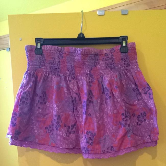Roxy Skirt Purple With Pattern