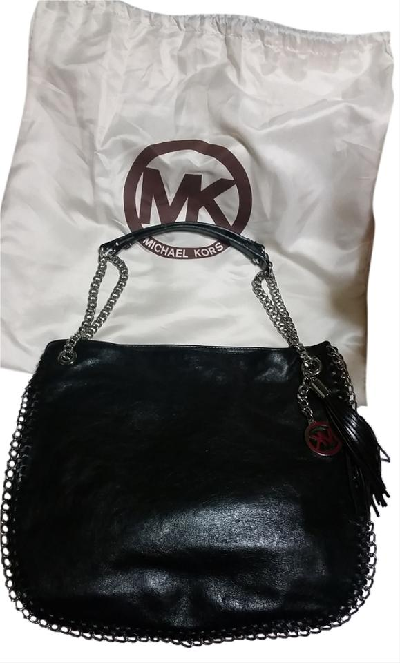 740fb68145a5 Michael Kors Mk Jet Set Chain Tote in Black with silver hardware Image 0 ...
