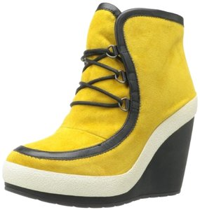 United Nude Waterproof Suede Curry yellow / orange Boots
