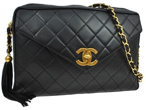Chanel Quilted Cc Chain Fringe Shoulder Bag